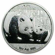 2008 China Panda 1 Oz Silver Coin Ngc Ms 69 Panda'S Asia Chinese Prc 10 Yuan Yn