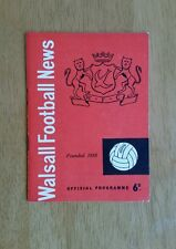 1961/62 WALSALL v LEYTON ORIENT  - EXCELLENT CONDITION