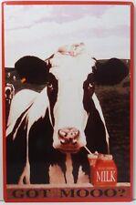Got Moo Milk Cow Metal Sign