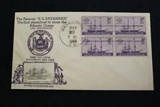 PATRIOTIC NAVAL COVER 1944 MACHINE CANCEL 100TH ANNIV SS SAVANNAH (2077)
