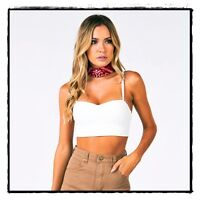City Beach Mooloola Off White Stacey Crop Top Size 10 $34rrp