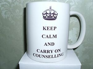 KEEP CALM AND CARRY ON COUNSELLING MUG CUP GIFT PRESENT IDEA