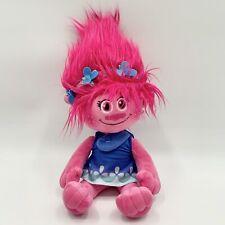 "Dreamworks Trolls Princess Poppy Plush Hot Pink Troll Doll 16"" Stuffed Animal"