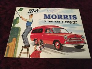 Morris 1/2 Ton Van & Pick Up Series III Brochure 1956 - Rare UK Issue