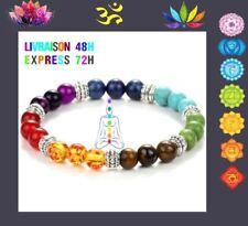 Bracelet 7 chakras guérison 21 Perles Reiki Yoga protection bouddha Mixte  U06