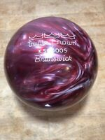 Undrilled Brunswick Triple Crown Vintage Bowling Ball 10 Lb 6.6 Oz Purple Swirl
