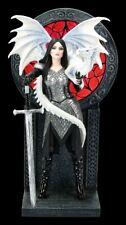 Valour Figurine By Anne Stokes - Drachenkriegerin Elfe Fee Dekostatue