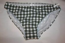 Seafolly Green Plaid Bikini Bottoms ONLY USA Size 10