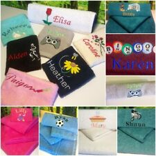 Personalised Towels, ANY NAME, Fun Designs, Perfect Gift, Face Hand & Bath Towel