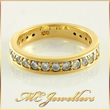 Ladies Yellow Gold Grain Set 23 x 0.045ct Diamond Band Ring 18k 18k 18ct 4.5 g