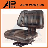 Universal slide adjustable Black seat Dumper Ride on Lawn Mower Compact Tractor