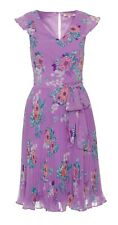 Review Sz 14 Floral Pop Dress Lavender/Multi + Sash Brand New With Tags