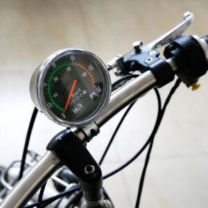 Vintage Style Bicycle Bike Speedometer Analog Mechanical Odometer With Hardware