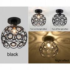 E27 nero cristallo minimalista plafoniera Semplice soffitto lampada D3A1