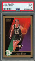 Larry Bird Boston Celtics 1990 Skybox Basketball Card #14 Graded PSA 9 MINT