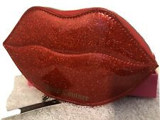 Juicy Couture Red Bling Lips Jewelry Zip Around Case Msrp $35