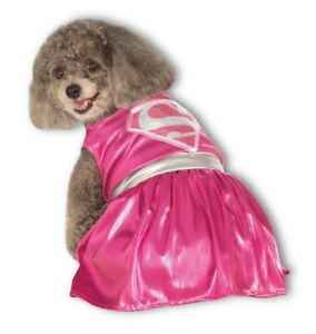 RUBIE'S PINK SUPERGIRL COSTUME FOR X LARGE DOGS HALLOWEEN SUPER HERO DC COMICS
