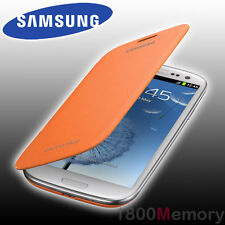 GENUINE Samsung Galaxy S3 S 3 Flip Cover Case GT-i9300 i9305 i9306 i9307 Orange