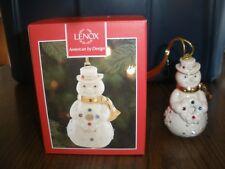 New Lenox Holiday Gems Snowman Ornament