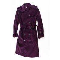 NEW Rebecca Minkoff Ferry Double Breasted Corduroy Velvet Trench Coat Jacket XS