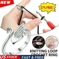 Swan Knitting Loop Crochet Ring Thimble Guide Tool Accessories Home Tools R1I2
