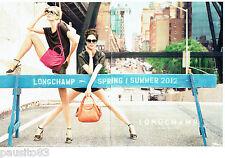 PUBLICITE ADVERTISING 066  2012  les sacs à main  (2p) Longchamp