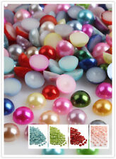 Multi-color 4mm Half Pearl Round Bead Flat Back Jewelry beads with a wax pencil