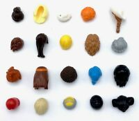 LEGO 20 NEW FEMALE AND MALE MINIFIGURE HAIR LONG WIGS BROWN BLONDE RED MORE