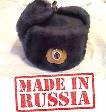 ORIGINAL Police Hat Ushanka fur uniform cap MAN MVD Russia Military army USSR