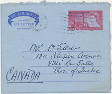 2402 1957 Air Letter 46th PARLIAMENTARY CONFERENCE QEII 6 D WINDERMERE to CANADA