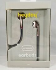 heyday Wired In-Ear Braided Cable Earbuds Rose Gold/Blue