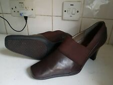 A2 AEROSOLES SIZE UK 9 B EU 43 WOMEN BROWN LEATHER COURT PUMPS HIGH HEELS SHOES