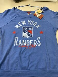 NEW YORK RANGERS WOMENS MITCHELL & NESS NHL BLUE PULLOVER  FREE SHIPPING