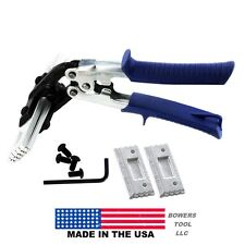 Midwest Snips Offset Interchangeable Blade Hand Seamer Tongs 3 & 6in USA Tool