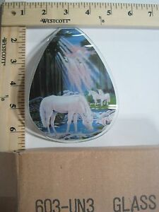 FREE US SHIPPING ok touch lamp replacement glass Unicorn's Waterfall 603-UN3