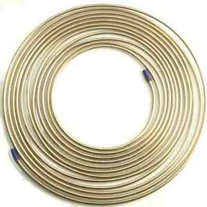 """Cupro-Nickel Brake Pipe Brake Piping - 3/16"""" O/D 25ft Roll ***High Quality***"""