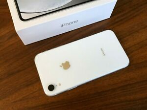 Apple iPhone XR 128GB White (Unlocked) w/ Extras