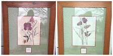 CHARLES RENNIE MACKINTOSH WILLOW & FRITILLARIA 2 TWO LARGE FRAMED PRINTS MATTED