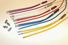 BMX UPPER & LOWER Gyro Brake Cable PAIR! Various Colours.