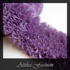 Purple French Ruffled Fabric Lace Trim *Per yard*