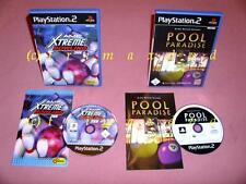 2x ps2 _ POOL PARADISE & AMF Xtreme Bowling 2006 ___ éditions originales Top-État
