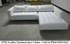 Modern Contemporary White Leather Sectional Sofa #1701 (Small Version)