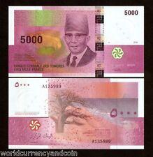 Comoros Islands 5000 5,000 Francs P18 2006 A Prefix President Unc Currency Note