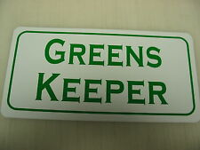 Greens Keeper Metal Sign Golf Course Driving Lawn Mower Country Club Putting Pro