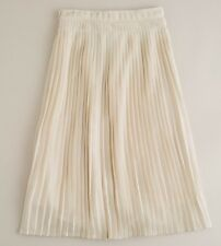 "NWT $250 J Crew  ""Collection Marlien"" Champagne Silk Pleated Skirt Size 10"