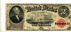1917 $2 Legal Tender Note Fr. 60 # 242A