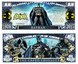 Pack of 25 - DC Comics Batman Action Series 1 Million Collectible Dollar Bill