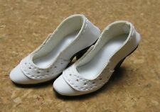 DOLL Shoes, White on White pumps fit Ellowyne and High Heel Marley