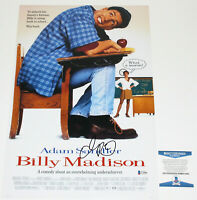 ADAM SANDLER SIGNED 'BILLY MADISON' 12x18 MOVIE POSTER 2 ACTOR BECKETT COA BAS