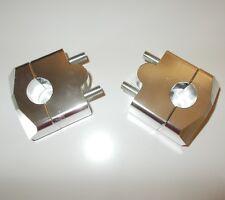 pontet de guidon universel Ø22,2mm rehausse 20mm neuf (la paire) moto